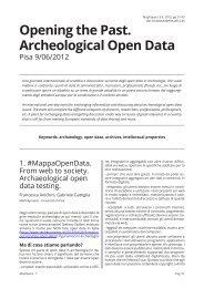 Opening the Past. Archeological Open Data - Mappa - Università di ...