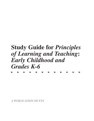 Study Guide For Principles Of Learning And Teaching Digital River