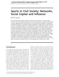 Sports in Civil Society: Networks, Social Capital and ... - Viken Fiber