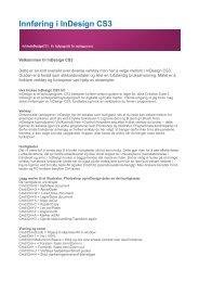 InDesign innføring - Viken Fiber