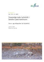 Vassendgrenda Hyttefelt Søndre Land kommune - Vann - Viken Fiber