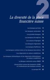 La diversité de la place fi nancière suisse - marc bauen