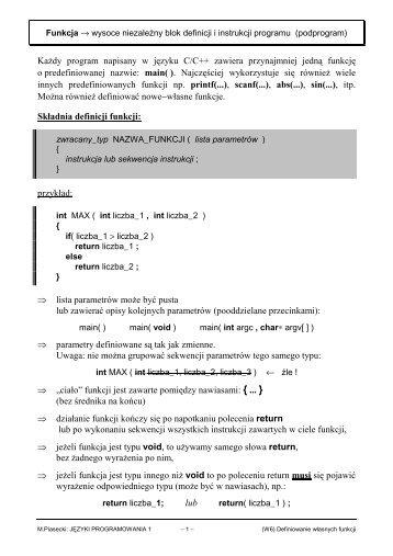 PDF 100KB - Marek Piasecki
