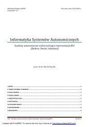 Informatyka Systemów Autonomicznych - Marek Piasecki