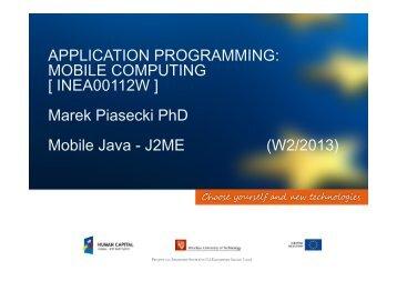 J2ME - Marek Piasecki