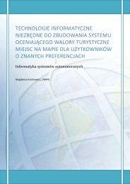 technologie informatyczne niezbędne do ... - Marek Piasecki