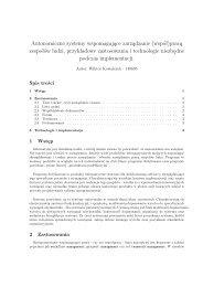 Autonomiczne systemy wspomagające ... - Marek Piasecki
