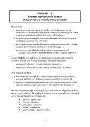 Rozmyta reprezentacja danych (modelowanie i ... - Marek Piasecki