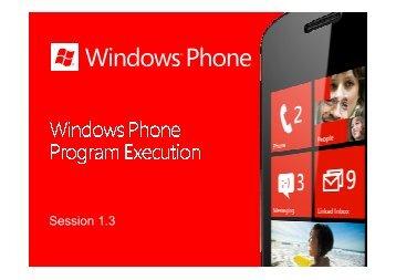 Windows Phone Program_Execution - Marek Piasecki