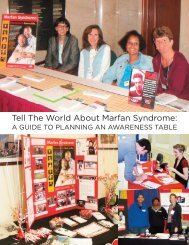 A Guide to Planning An Awareness Table - National Marfan ...