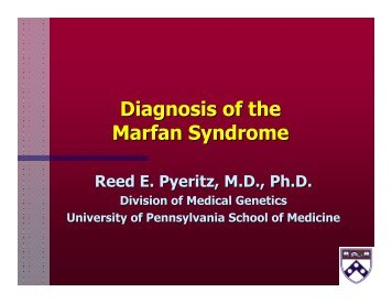 Diagnosis of the Marfan Syndrome
