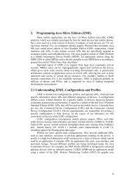 2. Programming Java Micro Edition (J2ME) 2.1 ... - Marek Piasecki
