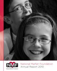National Marfan Foundation Annual Report 2010