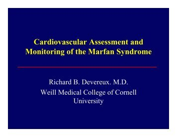 Cardiovascular Assessment and Monitoring of the Marfan Syndrome
