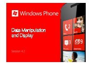Windows Phone - Data Manipulation and Display - Marek Piasecki
