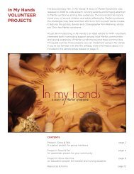 view the In My Hands Project Guide - National Marfan Foundation
