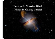Lecture 2. Massive Black Holes in Galaxy Nuclei - Herbstschule ...