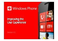 Windows Phone - Improving the User Experience - Marek Piasecki