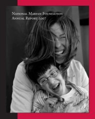 NATIonAL MARFAn FounDATIon AnnuAL REpoRT 2007