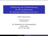 Kalibrierung und Charakterisierung der dE/dx-Information der ...