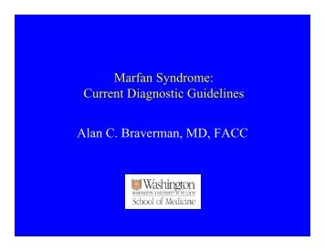 Marfan Syndrome: Current Diagnostic Guidelines Alan C ...