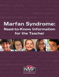 Need-to-Know Information for the Teacher - National Marfan ...