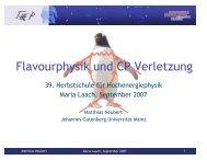 Vorlesung - Herbstschule Maria Laach
