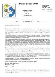 The Marian Inscription Newsletter