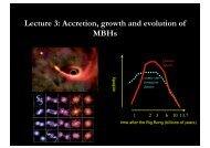 Lecture 3: Accretion, growth and evolution of MBHs - Herbstschule ...