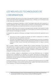 LES NOUVELLES TECHNOLOGIES DE L'INFORMATION