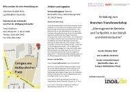 Einladung zum Branchen-Transferworkshop - Das Demographie ...