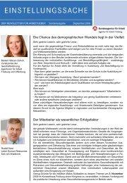 Sonder-Newsletter der Agentur für Arbeit - Das Demographie ...