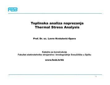 4) Toplinska analiza naprezanja i pulsna termografija