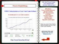 WEB.Kurzpräsentation: Forex Trading Systeme