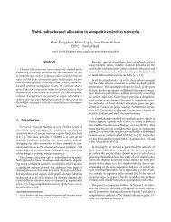 Multi-radio channel allocation in competitive wireless ... - CiteSeerX