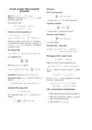 Kratki pregled diferencijalnih jednadzbi
