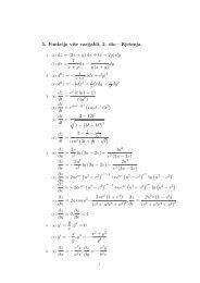 5. Funkcije više varijabli, 2. dio - Rješenja 1 x + y dx − x y (x + y) dy ...