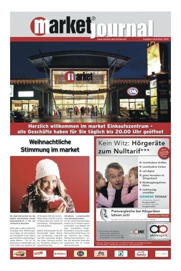 Weihnachtliche Stimmung im market Kein Witz: Hörgeräte zum ...