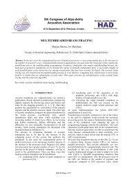 Sikora M., Mateljan I - Alps Adria Acoustics Association