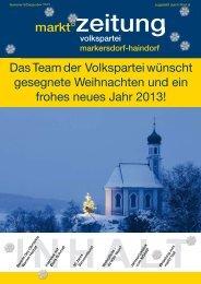 markt°zeitung Das Team der Volkspartei wünscht gesegnete ...