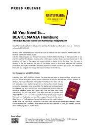 BEATLEMANIA_Press Info 2 - Hamburg Marketing GmbH