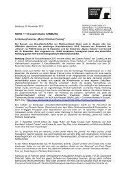 NEWS +++ Kreuzfahrthafen HAMBURG - Hamburg Marketing GmbH