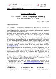 Press Trip - Hamburg Marketing GmbH