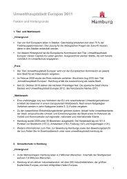 Umwelthauptstadt Europas 2011 - Hamburg Marketing GmbH