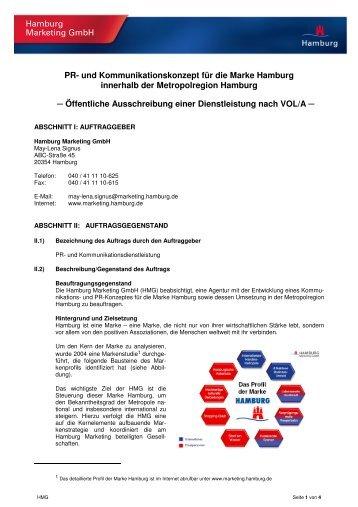 hmg briefing_pr und kommunikationskonzept hamburg - Kommunikationskonzept Beispiel