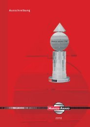 Flyer zur Ausschreibung Marken-Award 2010 - Marketing - Club ...