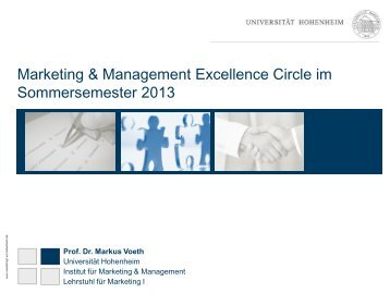 Marketing & Management Excellence Circle im Sommersemester ...