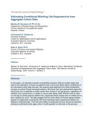 Estimating Conditional Working Life Expectancies ... - ResearchGate