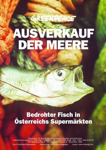 AUSVERKAUF DER MEERE - Marktcheck.at