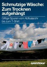 Schmutzige Wäsche: Zum Trocknen aufgehängt - Greenpeace